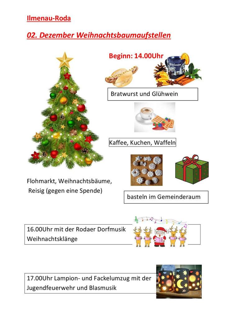 Wann Weihnachtsbaum Aufstellen.Weihnachtsbaum Aufstellen Ilmenau Roda