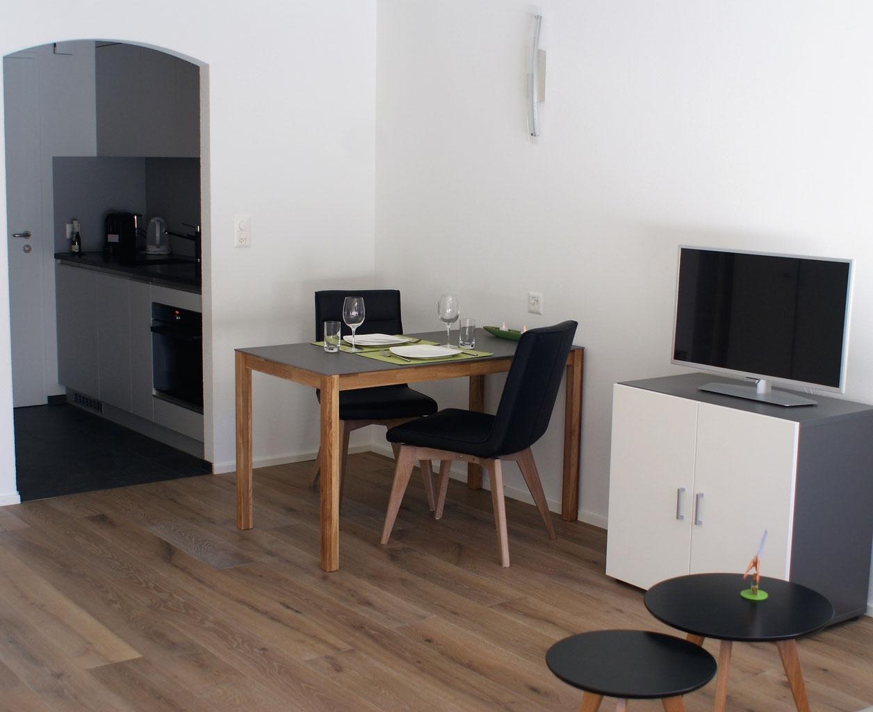 Das Moderne Wohnzimmer Der Ferienwohnung Casa Jenatsch 202 Davos Erholsame Ferien Garantiert