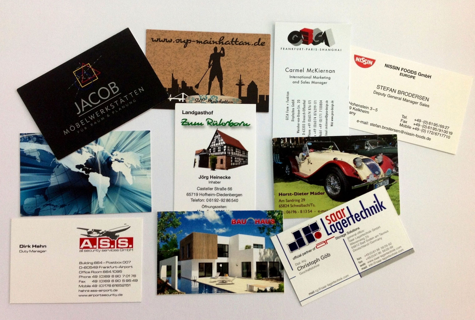 Visitenkartendruckerei Businesscards