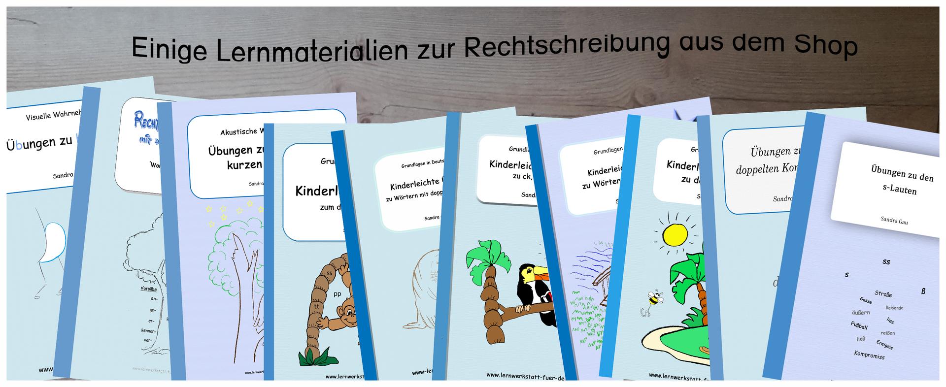 Arbeitsblätter - Lernwerkstatt für Deutsch