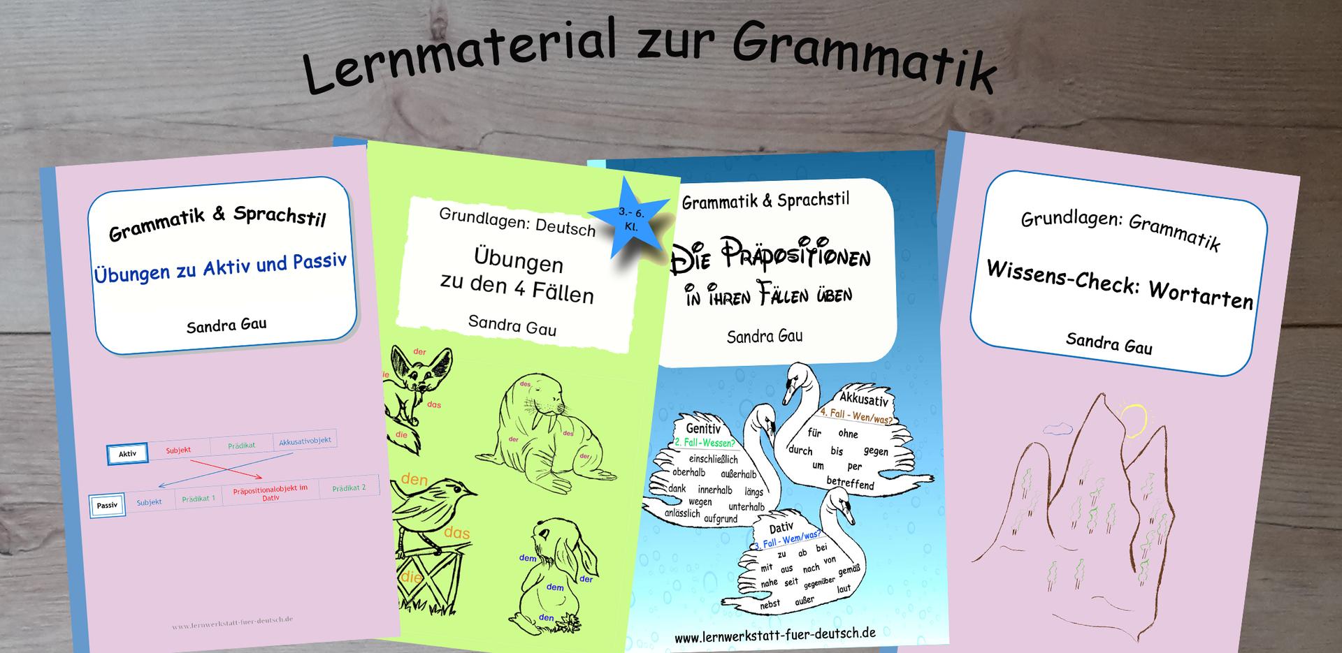 Arbeitsblätter Grammatik - Lernwerkstatt für Deutsch