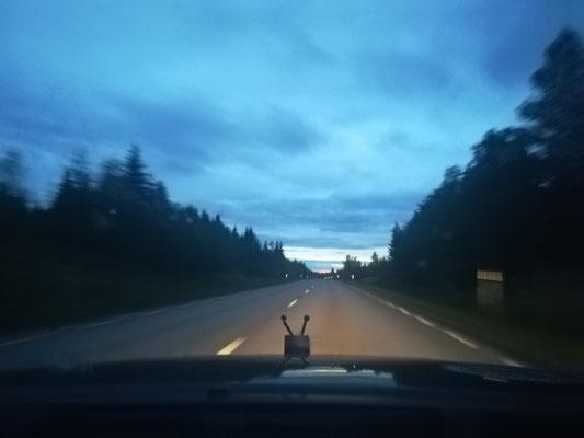 Nachts 1:23 Uhr in Schweden