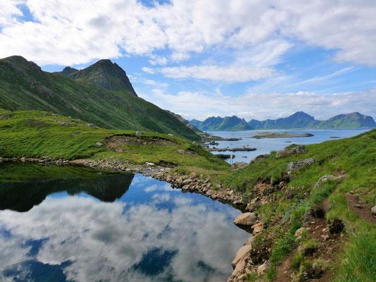 Start an kleinen Seen (Trinkwasserzufuhr von Nyksund)