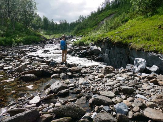 Hier nah an der norwegischen Grenze verschwindet der Bjurälven