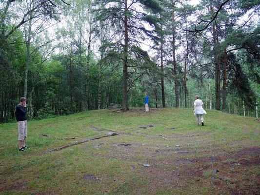 Uraltes Steinlabyrinth-Muster (Trojaburg)