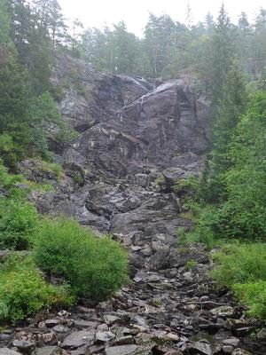 Elchwasserfall ohne Wasser