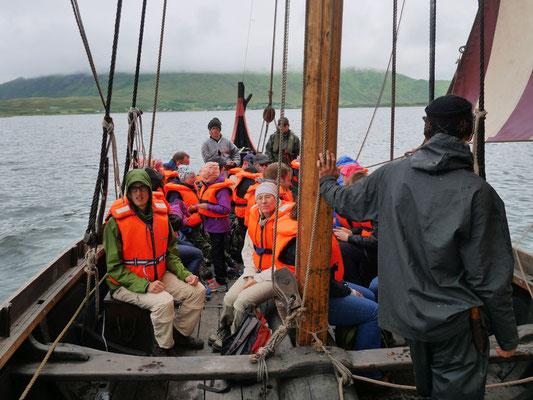 Fahrt auf dem Wikingerschiff