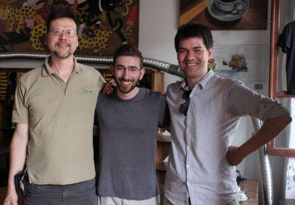 v.r. Gerrit, Andrew (DLG), Felix
