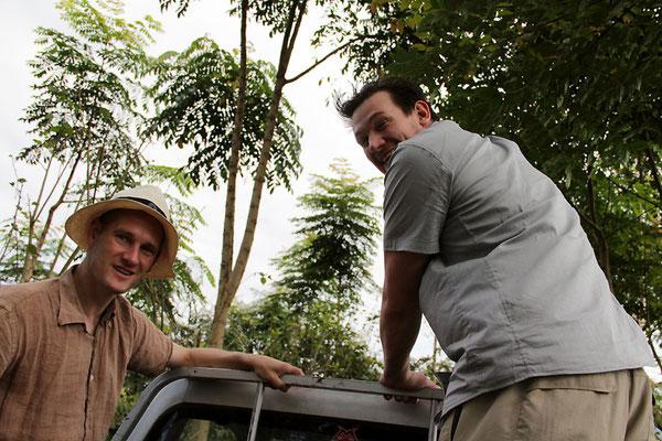 Pingo und Reto unterwegs auf dem Pickup