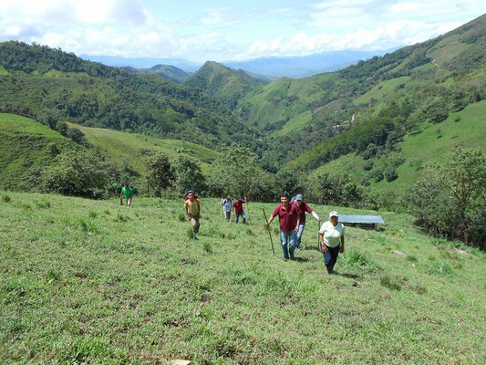 Auf dem Weg zu Marcelos Farm