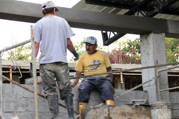 Bauarbeiten am neuen Beneficio der ACRIM
