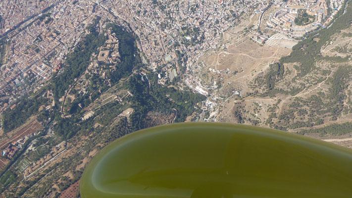 Überflug Granada Alhambra