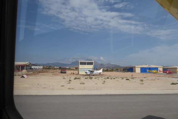 Auf dem Rückflug Fuelstop in Muchamiel LEMU