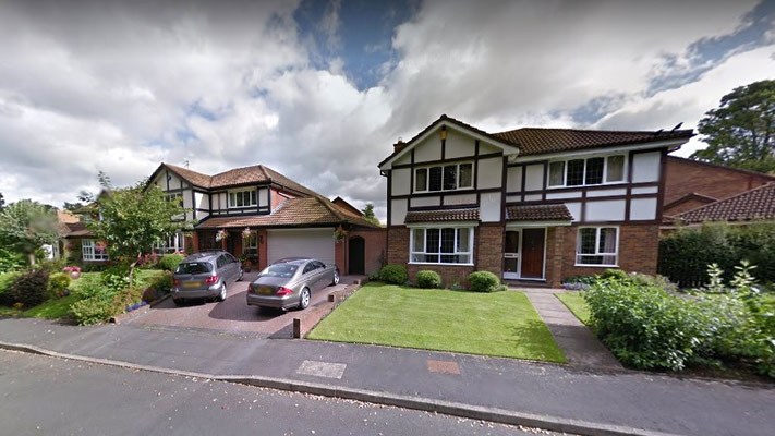 Late 20th-century housing in Seal Close on the New Hall (Farm) estate - image Google Maps Streetview 2012