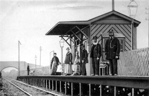 Stirchley (now Bournville) railway station 1879 - image from Warwickshire Railways website