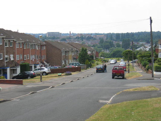View from the Pineapple estate aross the Rea valley towards Stirchley and Bournville. Image downloaded from Geograph - photographer owner untraceable.