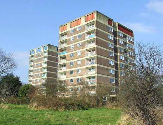 Cranleigh House (left) and Repton House built 1966 - image by ryangregg on UK Housing Wiki