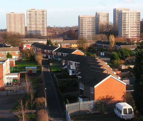 Bromford looking east - image by 0121mercia on  on UK Housing Wiki