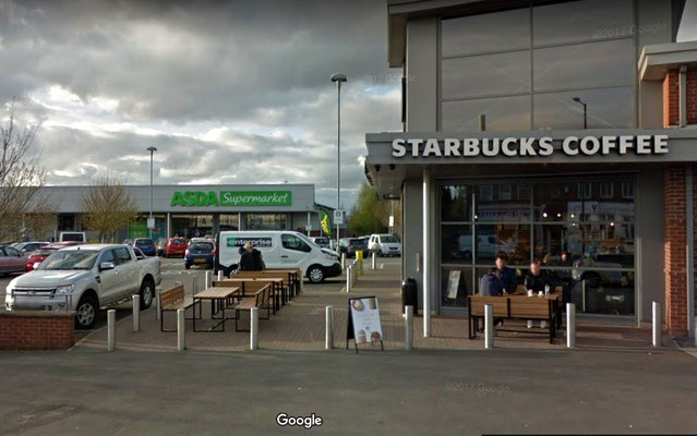 A supermarket and coffee shop now occupy the site - image from Google Maps Street view 2017