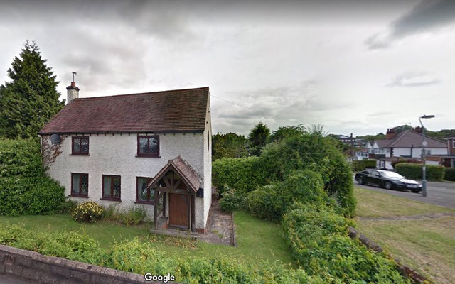 Old cottage on Lilley Lane - image from Google Streetview 2019
