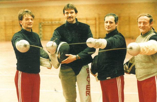 1988 les 4 entraineurs de Leverkussen