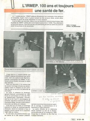1985 IRMEP 100e anniversaire