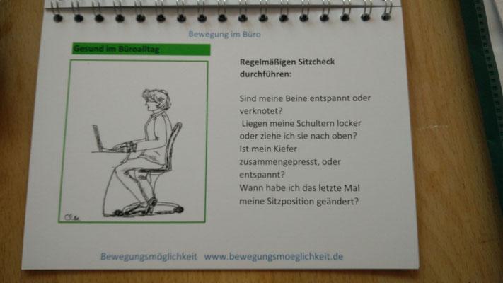 """Beispiel für eine Seite """"Gesund im Büroalltag"""" (Sitzcheck)"""