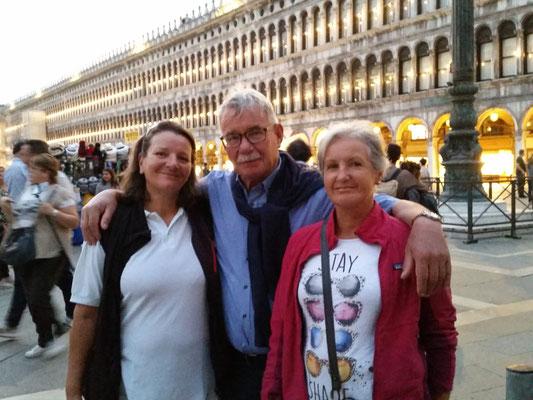 Rosanna mit Georg und Heidrun in Venedig