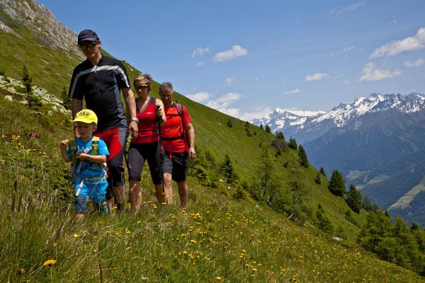 Unterwegs auf den Gipfel - von der Schönberg Alm auf den Schönberg