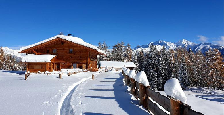 Schönbergalm in Weißenbach im Winter