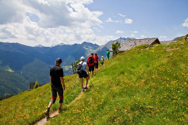 Auf dem Wanderweg zum Schönberg in Weißenbach im Ahrntal