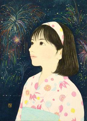 『花火祭』2014年 F4号 個人蔵