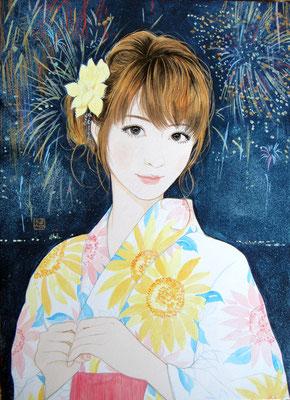 『真夏の花』2013年 F4号  個人蔵