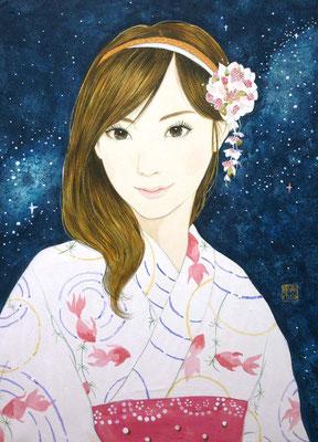 『愛逢月』2010年 F4号  個人蔵