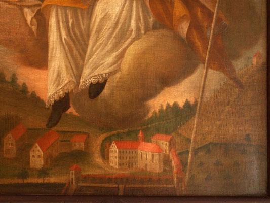 Kloster Bernstein auf einem Gemälde von 1770 - heute im Museum Wasserschloß Glatt