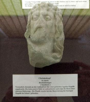 Christuskopf - jetzt im Heimatmuseum