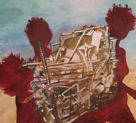Sogno, 2011, 145x150 cm (Abbildung im ver.di Kunstkalender 2014)