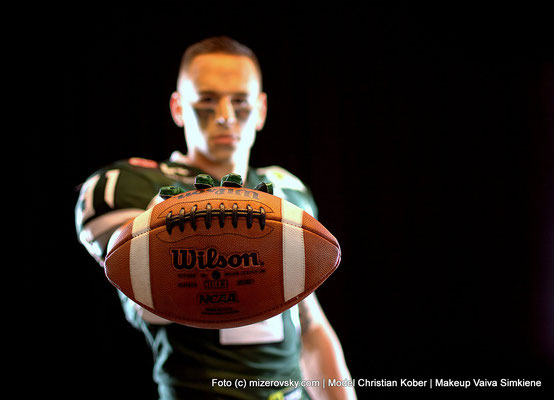 Photography mizerovsky.com | Makeup Vaiva Simkiene | Model Christian Kober | American Football