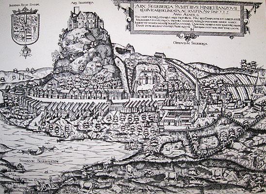 ARX SEGEBERGA, J.Greve 1585 (Reproduktion, zu sehen im Museum Alt Segeberger Bürgerhaus)