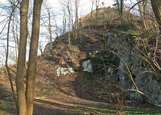 Kalkberg-Gipfel Nordseite