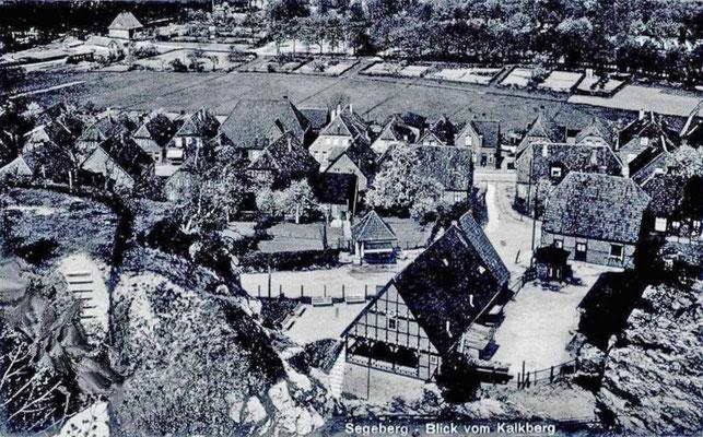 Blick vom Kalkberg 1930 auf das Höhlenwärterhaus (Blick nach NNW)