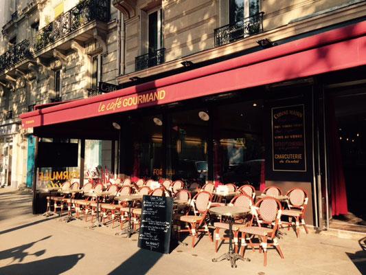 Terrasse du restaurant le Café Gourmand Bastille Paris 4ème