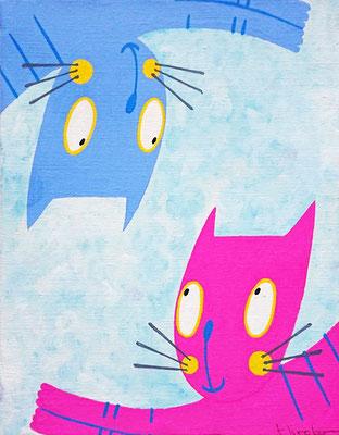 Pink&Blue キャンバス F3号(273x220㎜)