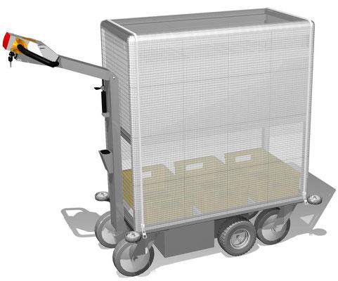 20 E-Mobil für Postsortierung in Sichthängetaschen, Wetterschutzplane mit Reißverschluss