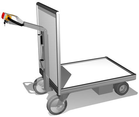 10 Stirnwand-Transportwagen mit Elektroantrieb, Ladeflächengröße individuell