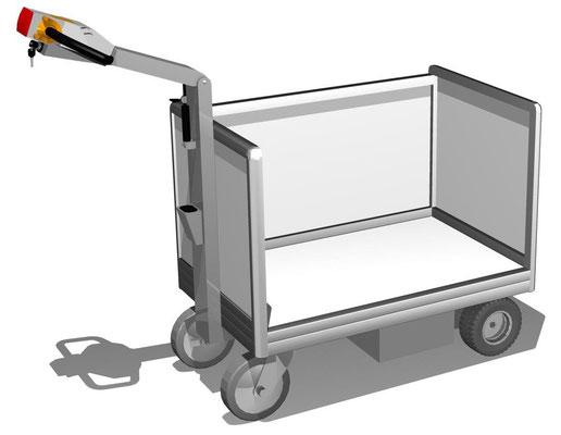 11 Dreiwandwagen mit Elektroantrieb, verschiedene Größen der Ladefläche