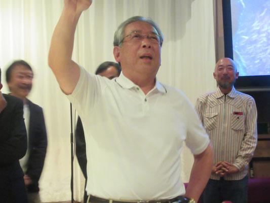 本学からはS50卒の永井先輩、声でかい!