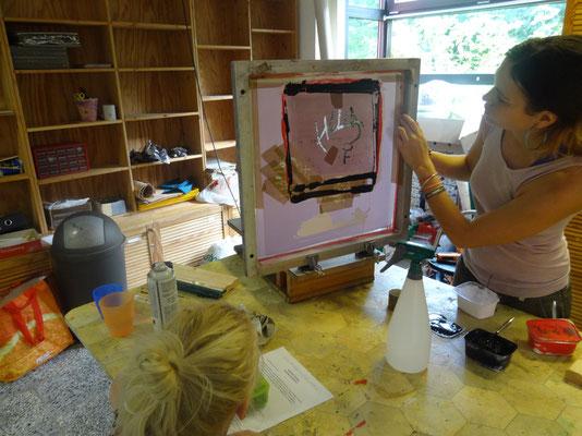 Siebdruck-Workshop Juli 2014