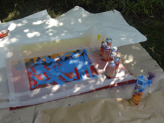 Graffiti-Workshop August 2014
