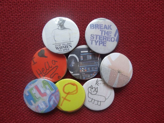 unsere selbstgemachten Buttons